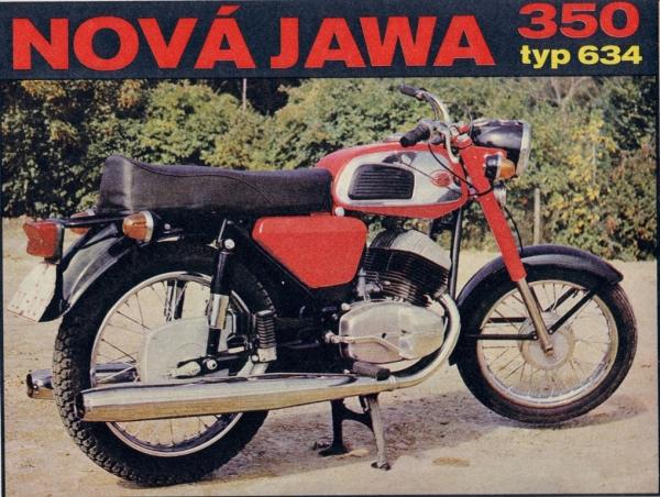 Jawa 350 typ 634 modeliai